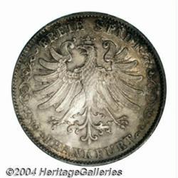 Frankfurt. Free State 2 taler 1844, Eagle Date