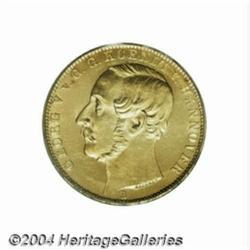 Hannover. Georg V gold Krone 1866B, Bust