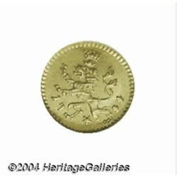 Hesse-Cassel. Friedrich I gold 1/4 ducat 1744,