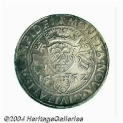 Kempten. Charles V taler 1552, Crowned shield