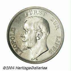 Lippe-Detmold. Leopold IV 2 mark 1906, Bust