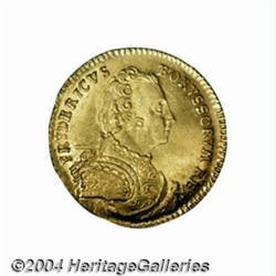 Prussia. Friedrich II gold ducat 1742EGN, Bust