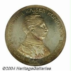 Prussia. Wilhelm II 5 Mark 1913A, KM536, Proof