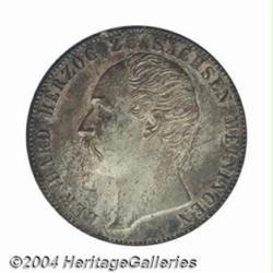 Saxe-Meiningen. Bernhard II Taler 1866, KM167,