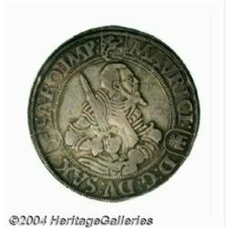 Saxony. Moritz Taler 1553, Annaberg Mint,