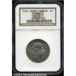 Saxony. Georg 2 Mark 1904E, KM1261, MS65 NGC,