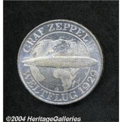 Weimar Republic. Zeppelin 3 Mark 1930G, KM67,