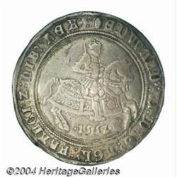 Edward VI crown 1552, king on horseback.