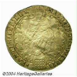 James I (1603-25) gold Rose-ryal, 2nd Coinage