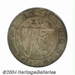 Commonwealth Shilling 1651. S-3217. Sun