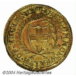 Commonwealth Gold Double-crown 1651, S-3210,