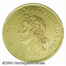 Cromwell gold 50 Shillings 1656. S-3224.