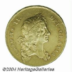 Charles II gold 5 Guineas 1678/7, S-3328.