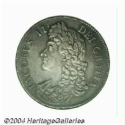 James II crown 1687, S-3407. MS64 NGC. Medium