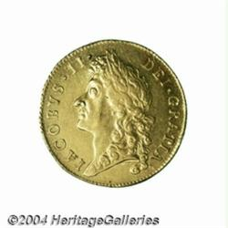 James II gold Guinea 1686, S-3402. 2nd bust.