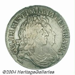 """William & Mary crown 1691, S-3433. First """"I"""""""