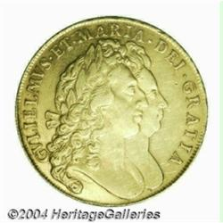 William & Mary gold 5 Guineas 1691, S-3422.