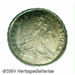 William III Halfcrown 1698, S-3494. 1st bust.