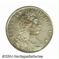 William III Halfcrown 1698, S-3494. Edge