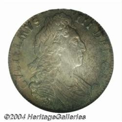 William III Crown 1700, S-3474. 3rd bust. Edge