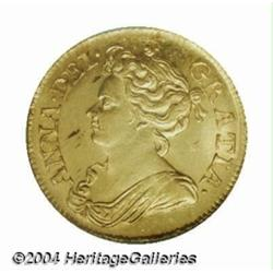 Queen Anne gold Guinea 1713, S-3574. 3th bust.