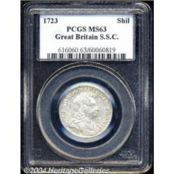 George I Shilling 1723 SSC, S-3647. Variety