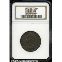 George II copper Halfpenny 1752, S-3719. Old