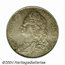 George II Halfcrown 1751, S-3696. Old head.
