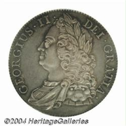George II Roses Crown 1743, S-3688. Old head.