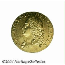 George II gold Guinea 1750, S-3680. Old head.