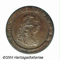 George III copper Pattern Farthing 1798,