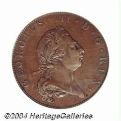 George III bronzed copper Proof Halfpenny