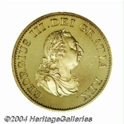 George III gilt copper Proof Halfpenny 1799,