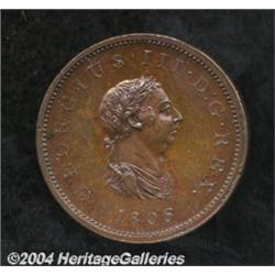 George III Proof Halfpenny 1806, S-3781.