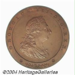 George III bronzed Pattern Penny 1797,