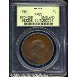 George III Proof Penny 1806, S-3780. PR65