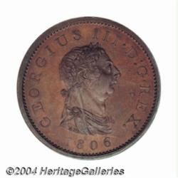 George III Proof Penny 1806, S-3780. PR66