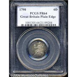 George III cypher Pattern Sixpence 1790,
