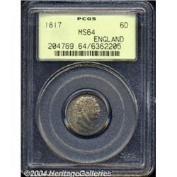George III Sixpence 1817, S-3791. MS64 PCGS.