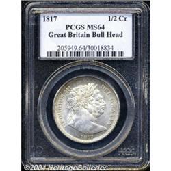 George III Bullhead Halfcrown 1817, S-3788.