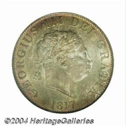 George III Small Head Halfcrown 1817, S-3789.