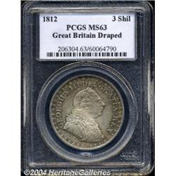 George III 3 Shillings 1812, S-3769. Draped