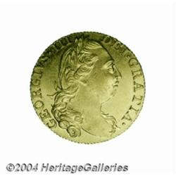 George III gold Guinea 1774, S-3728. 4th bust,