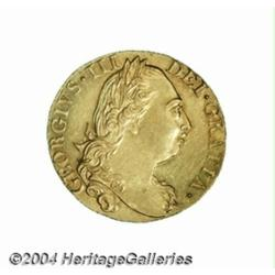 George III gold Guinea 1777, S-3728. 4th bust,