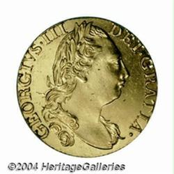 George III gold Guinea 1785, KM604, choice AU,