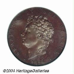 George IV Proof copper Halfpenny 1826, S-3824.