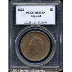 George IV copper Penny 1826, S-3823. Bare