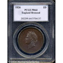 George IV Proof copper Penny 1826, S-3823.