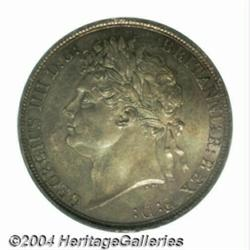 George IV Crown 1821, S-3805. Laureate head.