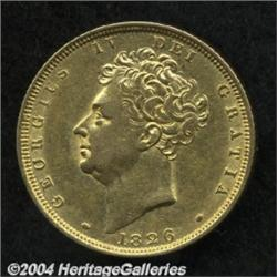 George IV gold Sovereign 1826, S-3801. Bare